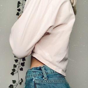 pink cropped lululemon sweater